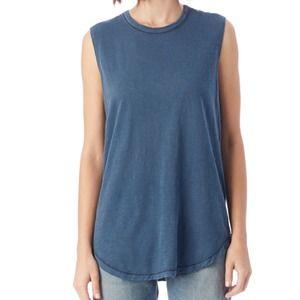 Alternative Apparel women's Tank Top Cotton Blue